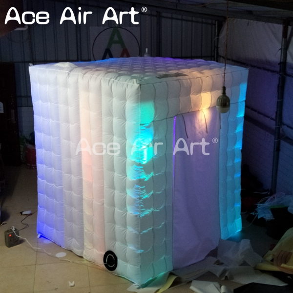 portable inflatable photo booh with led light controlled by remote controller for wedding