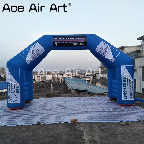 Hot sale advertising 4 legs start finish line inflatable archway with removable logo for sport event