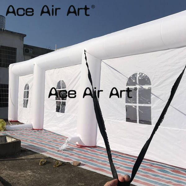 outdoor giant air building white inflatable wedding tent with windows for sale