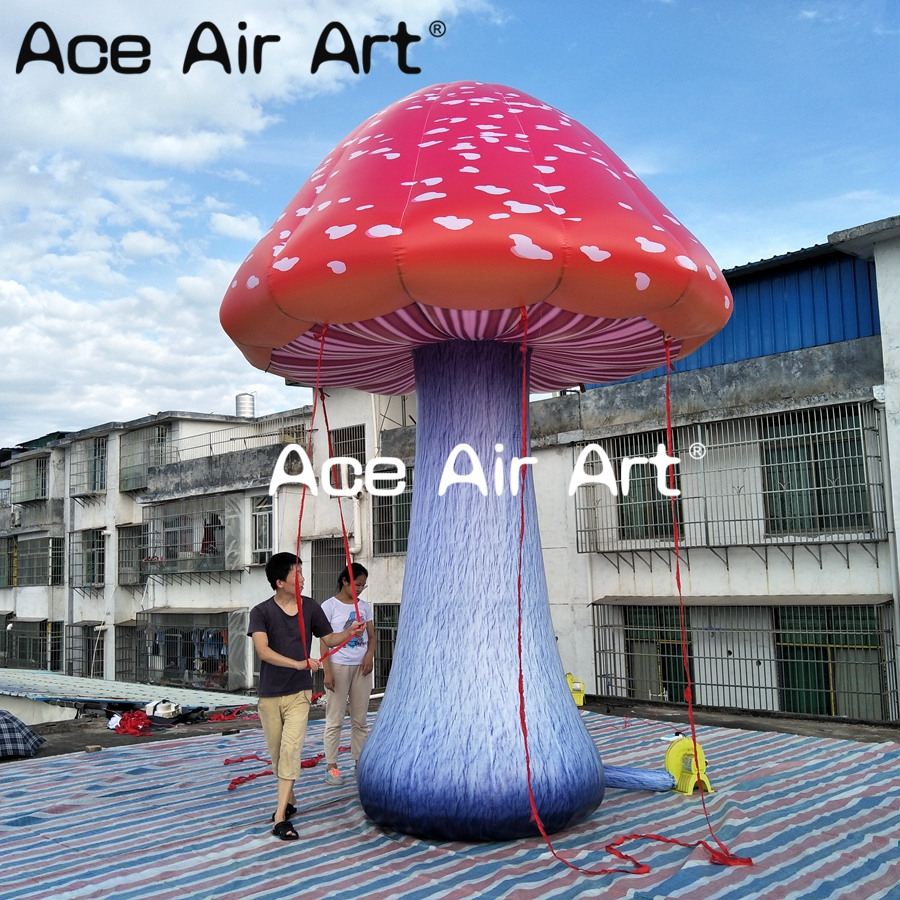 outdoor and indoor stage decoration event inflatable mushroom with led for advertising